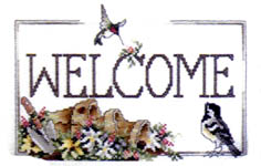 Click for more details of Watercolor Welcome (cross stitch) by Stoney Creek