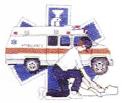 Click for more details of We Serve & Protect (cross stitch) by Puckerbush Inc.