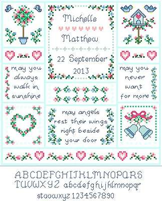 Click for more details of Wedding Angels (cross stitch) by Designs by Cathy