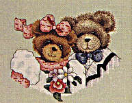 Click for more details of Wedding Bears (cross-stitch pattern) by Alma Lynne