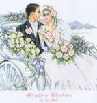 Click for more details of Wedding Carriage (cross-stitch kit) by Vervaco