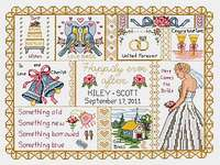Click for more details of Wedding Collage (cross-stitch) by Janlynn