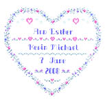 Click for more details of Wedding Heart (cross-stitch pattern) by Imaginating
