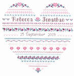 Click for more details of Wedding Heart Two (cross-stitch pattern) by Imaginating