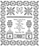 Click for more details of Wedding Sampler (blackwork kit) by Classic Embroidery
