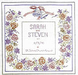 Click for more details of Wedding Sampler (cross-stitch kit) by Rose Swalwell