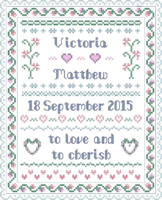 Click for more details of Wedding Traditional Sampler (cross stitch) by Designs by Cathy