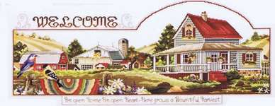 Click for more details of Welcome Heart and Home (cross stitch) by Stoney Creek