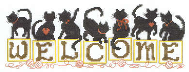 Click for more details of Welcome Kittens (cross stitch) by Imaginating