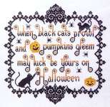 Click for more details of When Black Cats Prowl (cross stitch) by Kit & Bixby