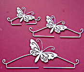 Click for more details of White Butterfly Deco Hanger (bell pulls) by Rico Design