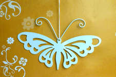 Click for more details of White Butterfly Ornament (bell pulls) by Rico Design