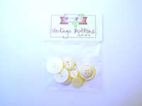 Click for more details of White Vintage Buttons x10 (buttons and brads) by Elizabeth Grace