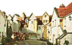 Click for more details of Whitehorse Close, Edinburgh (cross-stitch) by Thea Gouverneur