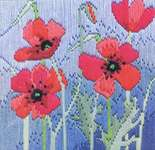 Click for more details of Wild Poppies (long-stitch) by Rose Swalwell