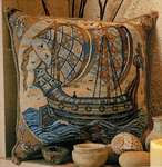 Click for more details of William de Morgan - Galleon (tapestry) by Glorafilia