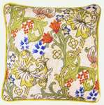 Click for more details of William Morris Style Cushion Front - Golden Lily (tapestry) by Bothy Threads