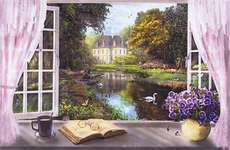 Click for more details of Window with a View (cross-stitch) by Heaven and Earth Designs