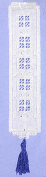 Click for more details of Windowpane bookmark (hardanger) by Permin of Copenhagen