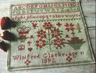 Click for more details of Winifred Glarke 1892 (cross stitch) by Pineberry Lane