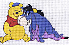 Click for more details of Winnie the Pooh and Eeyore (cross-stitch kit) by Disney by Anchor