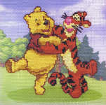 Click for more details of Winnie the Pooh and Tigger (cross-stitch kit) by Disney by Royal Paris