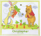 Winnie the Pooh's Birth Sampler