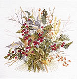 Click for more details of Winter Berries (cross stitch) by Ginger & Spice