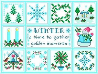 Click for more details of Winter (cross-stitch pattern) by Designs by Cathy