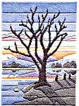 Click for more details of Winter Evening (long-stitch) by Rose Swalwell