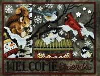 Click for more details of Winter Feeding Station (cross stitch) by Stoney Creek