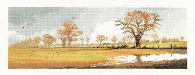 Click for more details of Winter Fields (cross-stitch kit) by John Clayton