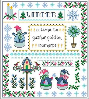 Click for more details of Winter Peace (cross-stitch) by Designs by Cathy
