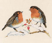 Winter Robins - cross-stitch kit by Valerie Pfeiffer