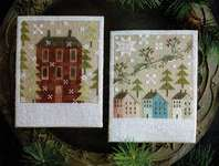 Click for more details of Winter Saltboxes (cross stitch) by Plum Street Samplers