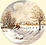 Click for more details of Winter Sheep (cross stitch) by John Clayton