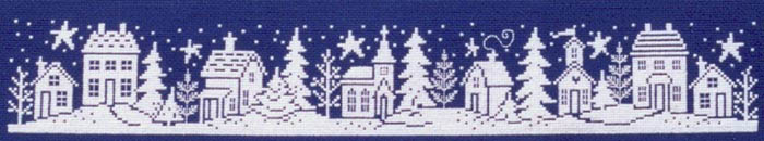 Click for more details of Winter Silhouette (cross-stitch pattern) by Imaginating