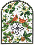 Click for more details of Winter Stained Glass (cross-stitch pattern) by Imaginating