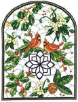 Click for more details of Winter Stained Glass Window (cross stitch) by Imaginating