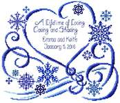 Click for more details of Winter Wedding (cross stitch) by Imaginating