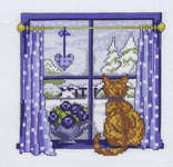 Click for more details of Winter Window (cross stitch) by Permin of Copenhagen
