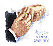 Click for more details of With This Ring Wedding Sampler (cross-stitch kit) by Vervaco