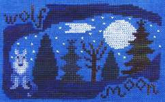 Click for more details of Wolf Moon (cross-stitch) by Misty Hill Studio
