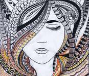 Click for more details of Woman Zenembroidery (embroidery) by Design Works