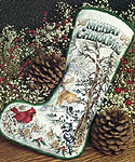 Click for more details of Woodland Christmas Stocking (cross-stitch) by Stoney Creek
