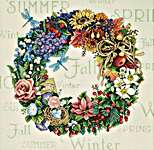 Click for more details of Wreath for All Seasons (cross stitch) by Dimensions