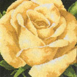 Click for more details of Yellow Rose (cross-stitch kit) by Lanarte
