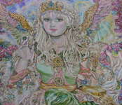 Click for more details of Yumi Sugai The angel of the emerald jewel. (limited edition print) by Yumi Sugai