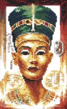 Queen Nefertiti Small Cross Stitch Kit By Lanarte