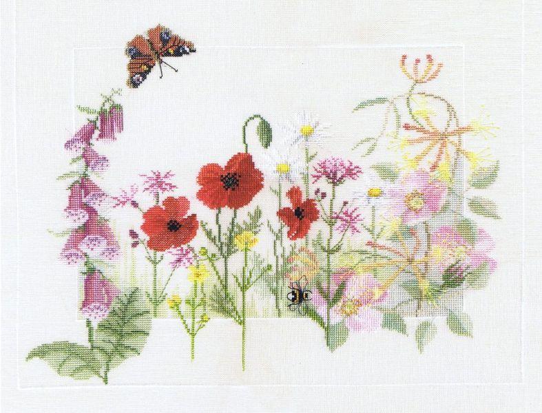 Summer Wild Flowers Cross Stitch Kit By Rose Swalwell